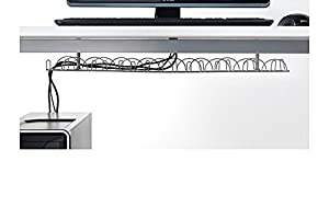 ikea signum cable management horizontal silver color fba pack 1 signum. Black Bedroom Furniture Sets. Home Design Ideas