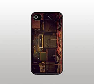 Band Life Hard Snap-On Case for iPhone 4 4s - Black - Music Stage Design by Maris's Diary