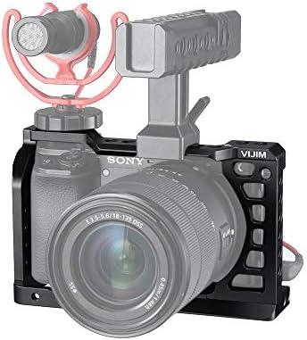 Kiowon カメラケージ Sony A6500/A6400/A6300/A6100ビデオカメラ対応 コールドシュー複数付き 軽