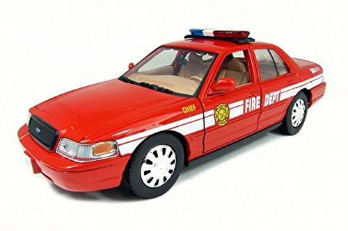 Fire Ford Model Chief - Motormax FDNY 2007 New York Fire Chief Ford Crown Victoria 1:24 Scale Diecast