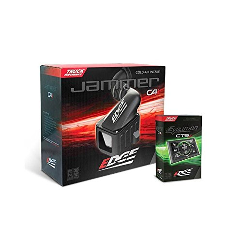 Edge Products 29033-D Jammer Cold Air Intake Stage 1 Power Package Incl. California Edition Diesel Evolution CTS2/Dry Filter Jammer CAI/Mystyle Software Jammer Cold Air Intake - Edge Performance Package