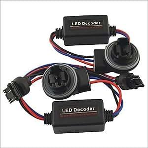 GDW coche 3157 llevó la luz de advertencia cancelador de error de derivación cableado resistencia de carga decodificador - 2pcs