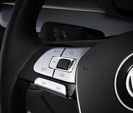 Multifunktionslenkradtasten Abdeckung Blende Passend Für VW Tiguan MK2 Rline