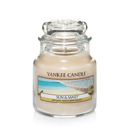 Yankee Candle Sun & Sand Small Jar Candle, Fresh Scent