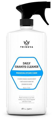 Granite Cleaner and Polish for Daily Use - Enhances Shine and goes on Streakless - For Countertops, Marble, Stone, Bathroom Tile Kitchen, Islands and more (Supreme Bathroom Sink)