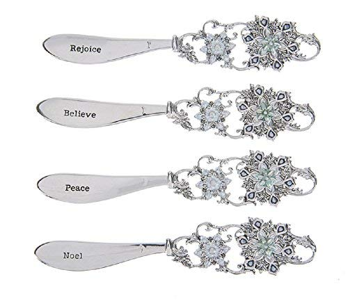Ganz Snowflake Spreaders Set of 4 Assorted by Ganz