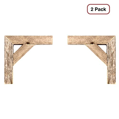 BarnwoodUSA | Set of 2 Farmhouse Corbels for Door Way Corners, Counter Top, Shelves | 100% Up-Cycled Reclaimed -