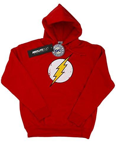 DC Comics Boys Flash Distressed Logo Hoodie 9-11 Years (Dc Comics Flash Hoodie)