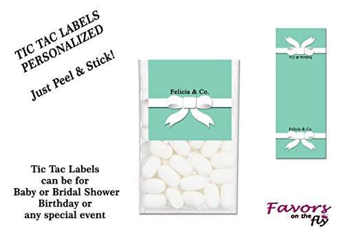 (48 Name, Baby or Bridal & Co, Birthday or Special Event Tic Tac Labels)