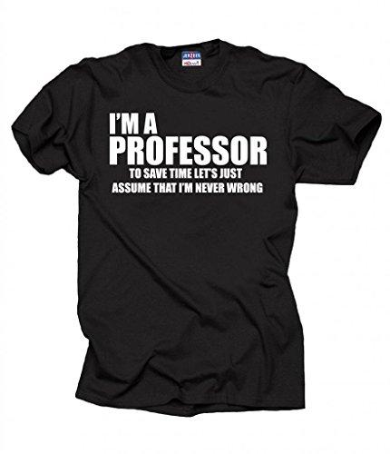 Professor Funny T-shirt University shirt gift for prefessor X-Large Black