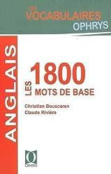 Anglais : les 1800 mots de base