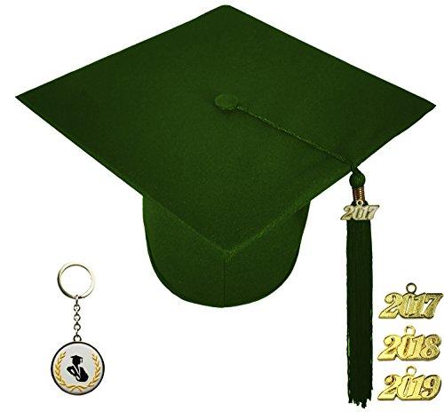 [해외]FIT4GRAD 매트 디럭스 졸업 캡 술 장식 세트 2017 2018 2019, 녹색 숲/FIT4GRAD Matte Deluxe Graduation Cap Tassel Signet Set 2017 2018 2019, forest green