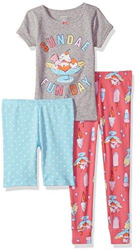 - Carter's Girls' Toddler 3-Piece Cotton Pajamas, Sundae Funday, 2T