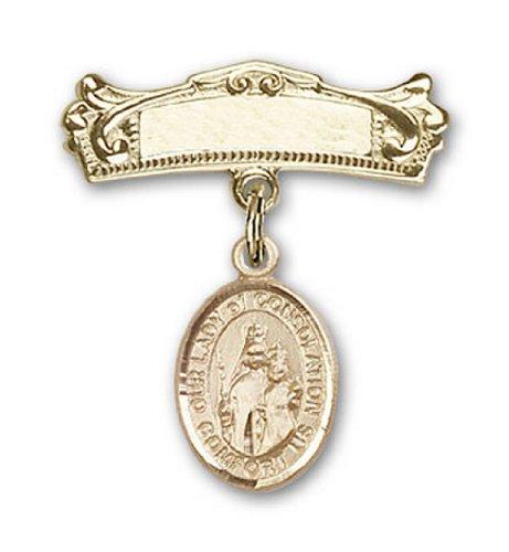 Icecarats Or Bijoux De Créateurs Rempli O / L De Charme De Consolation Broches Badge Arc 7/8 X 3/4
