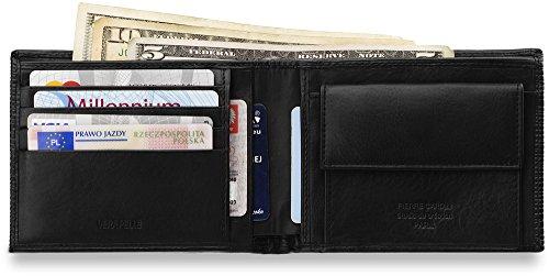 elegente Börse Markenbrieftasche PIERRE CARDIN Naturleder Geldbeutel mit modischer Prägung Brieftasche in horizontaler Ausführung