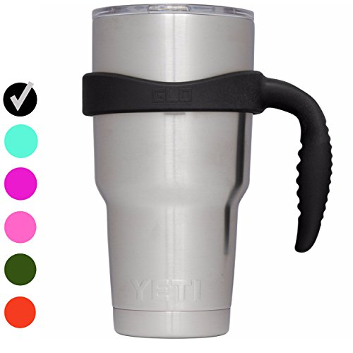 Grab Life Outdoors (GLO) - Handle For YETI Rambler 30 Oz Tumbler Cup - Fits Ozark Trail, RTIC & more - Handle Only (Black)