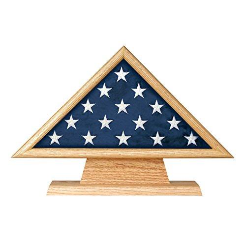 Memorial Pedestal (Oak 3 X 5 Flag Memorial Case on Pedestal with Engraved Plate - FG-FLGDCAS1000002865)