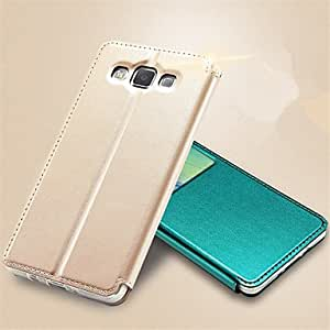 zxc Ultra Slim Hard Leather Folio Flip Cover Case for Samsung Galaxy A5 (Assorted Colors) , White