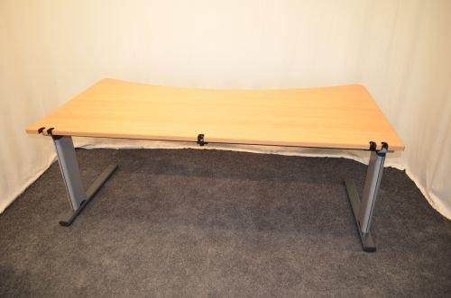 Mesa de escritorio, 200 x 100 cm, ajustable en altura: Amazon.es ...