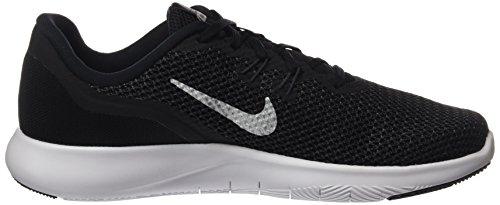 Nike Frauen Flex Trainer 5 Schuh Schwarz / Metallic Silber