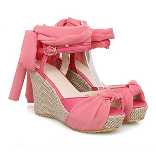 Nonbrand Women's Wedge Heel Strappy sandals high heels Shoes Pink ZbqvNg