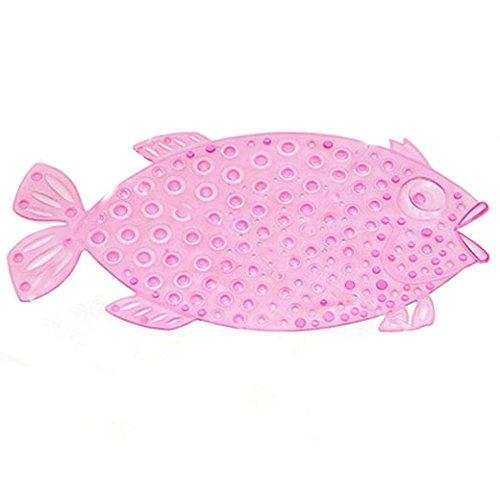YIXIN Fisch Stil Rutschfeste Badematte Saugmatten Wanneneinlage für Kinder und Babies auf Badewannen - 72x36cm (Rosa)
