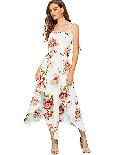 Milumia Women's Tropical Print Maxi Sleeveless Casual Long Dress X-Large (Tropical Floral Dress)