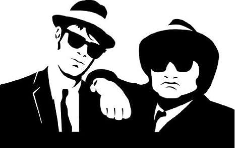 The Blues Brothers Band Musik Hochwertigen Auto Autoaufkleber 15 X 8 Cm Küche Haushalt