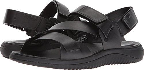 Cole Haan Men's 2.Zerogrand Multi Strap Sandal Black Leather/Black 10 D US