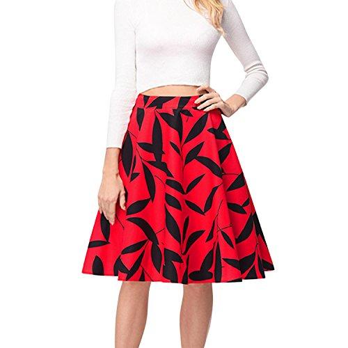 Midi Femmes Genou Jupe pour semen Haute Fleur Imprim Droite Crayon Jupe au Rose Taille Floral Bodycon lasticit Jupe gqtwZ1Yta