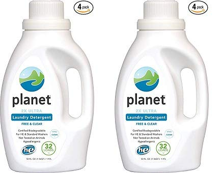 Planet 2X HE Ultra Laundry Liquid Detergent, 32-Loads, 50-Ounces Bottle (Pack of 4) (2-(Pack))