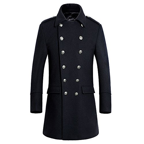 - WEEN CHARM Mens Stylish Fashion Classic Wool Double Breasted Coat