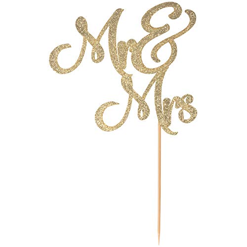 Mr & Mrs cake topper prime - Beautiful wedding cake topper perfect for wedding decorations, wedding decor, wedding anniversary decorations. A great gold wedding cake topper! By Dos Chonguitos