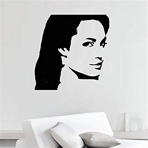 RONGAN Famous Persons Wall Decals Beautiful Hot Actress Stickers Vinyl Vinyl Nursery Kids Room Wall Sticker 58 58cm