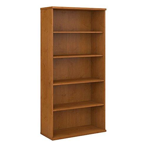Bush Business Furniture Series C Video Game and DVD Storage Bookshelf in Natural Cherry