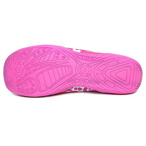 Justonestyle Nbera Barbeint Fleksible Vann Hud Sko Aqua Sokker Til Strand Svømme Surfe Yoga Trening Prm_pink