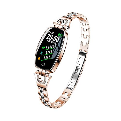 (PXYUAN Fitness Tracker, Activity Tracker with Heart Rate Monitor, Fitness Watch with Sleep Monitor IP67 Waterproof, Calorie Counter, Pedometer Watch for Kids Women and Men-Rosegold)
