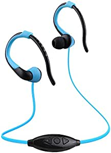 Player USB Neckband Sports Running Mp3 with Earphone Support 16GB Micro SD TF Card AXCDE (Color : Azul)