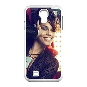 Samsung Galaxy S4 Cases, Alicia Keys,vintage Style Cases for Samsung Galaxy S4 {White}