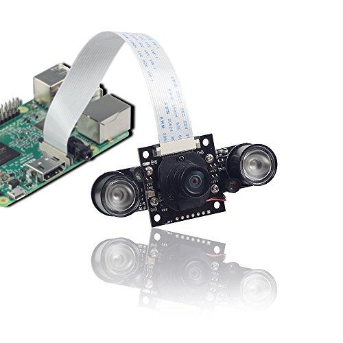 Arducam 5MP OV5647 Switchable IR-CUT Filter Camera 1080p Daylight and Night Vision for Raspberry Pi Zero,Pi3b+,Pi3, Pi B/2B/B/B+/A