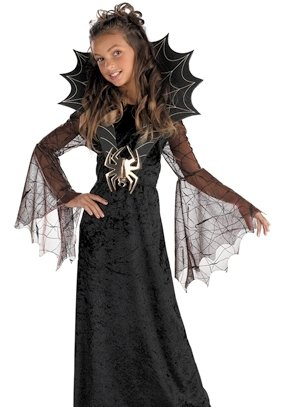 [Spider Countess Costume Girl - Large 10-12] (Womens Masquerade Costume Countess)