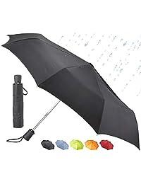 Lewis N. Clark paraguas de viaje automático, Negro, Una talla