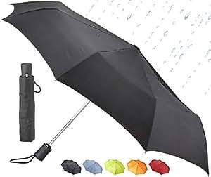 Lewis N. Clark Automatic Travel Umbrella, Black (Black) - 413-Black-One Size