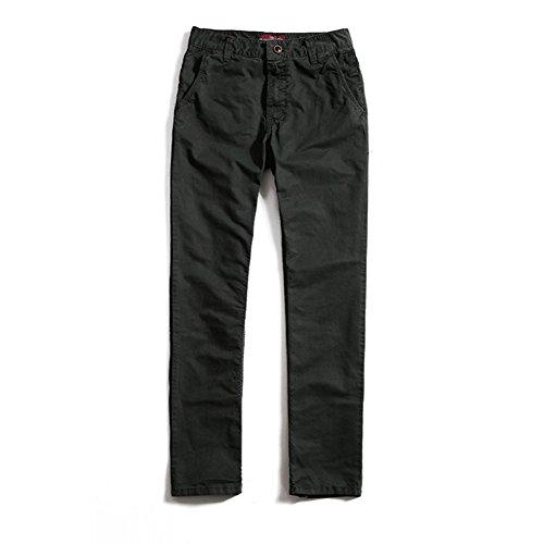 Bmeigo Hombre Casual Skinny Pantalones Slim Fit Tapered Twill Trousers -G24 Dark Grey