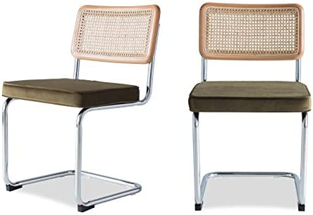 Edloe Finch Mid-Century Modern Dining Room Chairs Velvet Cushion