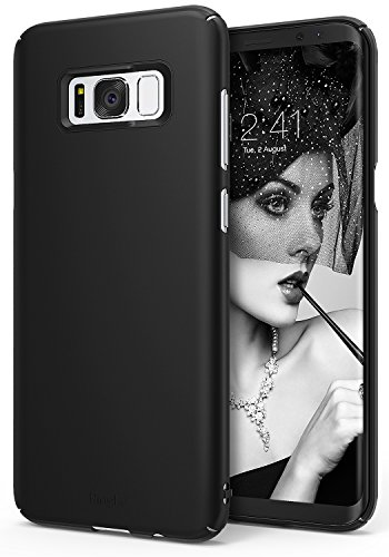 Ringke [Slim] Compatible with Galaxy S8 Case Dazzling Slender Laser Precision Cutouts Fashionable Superior Steadfast Bolstered PC Hard Skin Cover for Samsung Galaxy S8 (2017) - SF Black