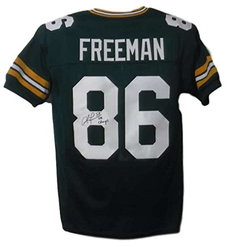 (Antonio Freeman Autographed Green Bay Packers XL Green Jersey SB Champs)