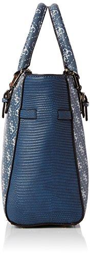 Guess Damen Henkeltasche, Blau, 30 cm