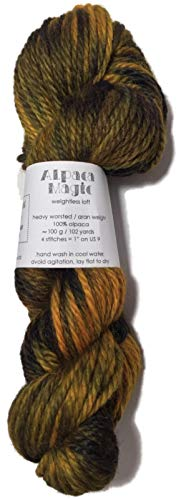 (Hand Dyed Baby Alpaca Yarn, Hand Painted: Earthy Pallet, Heavy Worsted Weight, 100 Grams, 102 Yards, 100% Baby Alpaca)