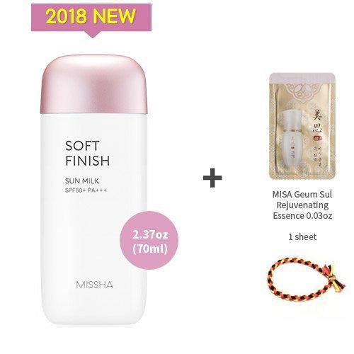 2018 NEW MISSHA All Around Safe Block Soft finish Sun Milk SPF50+/PA+++2.37oz(70ml) + Sample 1 ()